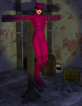 Catwoman in Peril by Dracis3D