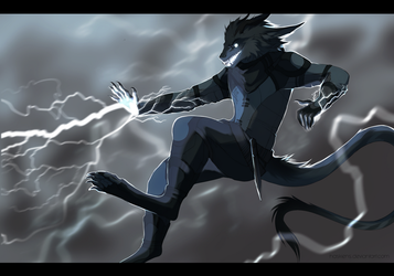 Faster than lightning by Haskiens