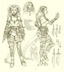 Tiefling Rogue Character Sheet by ghostfire