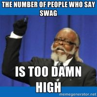 the number of people who say swag.... by NeycuuRose1