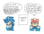 Sonic IDW petition plug with Sonic and Sally Acorn by dth1971