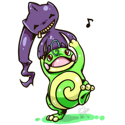 GIFT Politoed Banette by Frog-of-Rock
