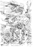 JLA 1999 ANNUAL ART NEVER PUBLISHED PAGE 6 by Johnny-Retro65