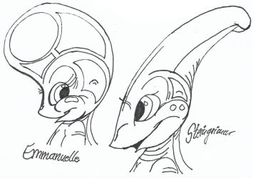 Flat Face and Long Head by HeinztheBlueGiant