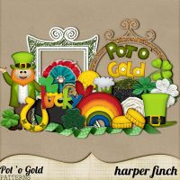 Pot O' Gold Elements by harperfinch