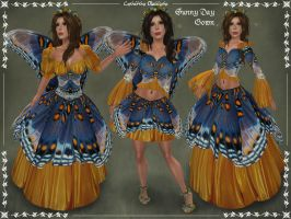 Sunny Day Gown Revised by Elvina-Ewing
