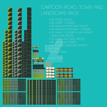 Cartoon Roads, Town and Landscape Pack For Sale! by blenderednelb