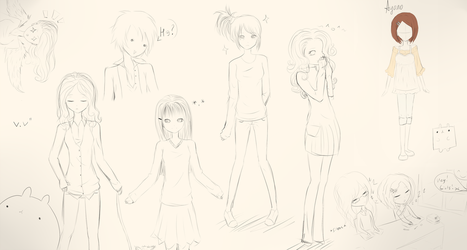 Sketches by Ayano-tyan