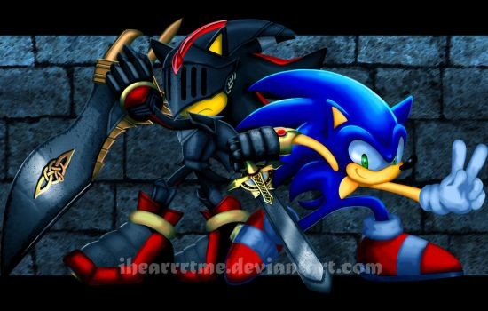 Sonic and Sir Lancelot by ihearrrtme