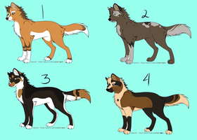 Canine Adopts (CLOSED) by Wolfies-Adopties