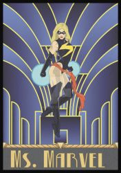 Ms. Marvel Art Deco by Norfire