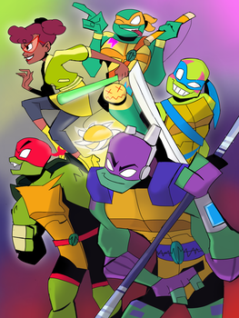 * from the Shadow * [TMNT 2018] by JulieDraw2046
