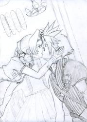 Cloud and Aerith by SolidJB