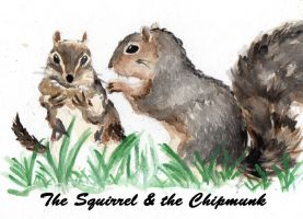 The Squirrel and the Chipmunk by kay85905921