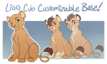 TLK Lion Cub Customizable Base by Machati