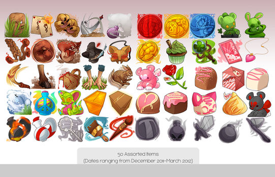 50 Assorted Items by zombie