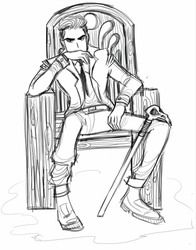 kaz brekker line art by Tucks-Qwerty