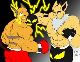 Sketchmission: Jolteon use Thunder Punch by CaseyLJones