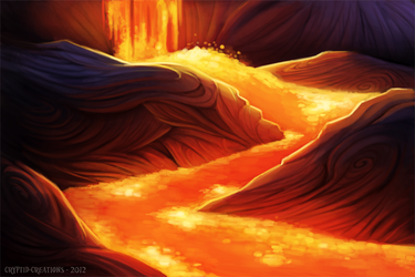 Daily 1 - Lava Flow by Cryptid-Creations
