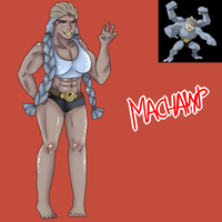 Machamp (Gijinka) by Meloewe