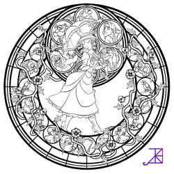 Jane Stained Glass -line art- by Akili-Amethyst