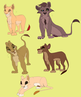 Lion King adoptables Part 3- FOR POINTS by Ersalaa