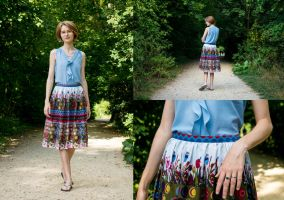 Summer skirt: Thrifted Upcycle by LualaDy