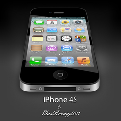 iPhone 4S Black by GlasKoenig201