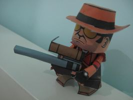 TF2 Sniper Papercraft by mirver