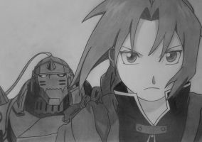 Edward and Alphonse Elric by MT9aV