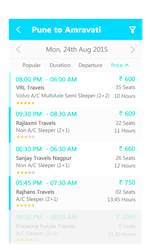 Bus Booking - search list - screen by designikx