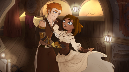 First dance at the tavern by KravaLioness