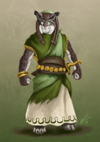 Theros Hero's Path - Leonin Warrior by ApathyHouseArt