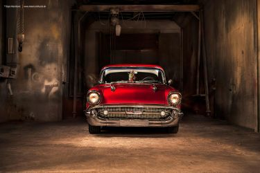 57 Bel Air + 55 Chevy 3100 - Shot 9 by AmericanMuscle