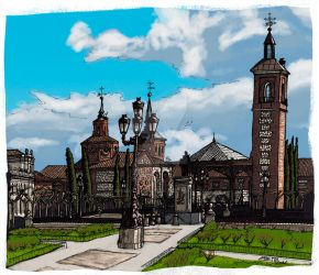 Plaza de Cervantes by ChemaIllustration