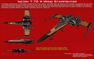 Incom T-70 X-Wing Starfighter ortho [1][Update] by unusualsuspex