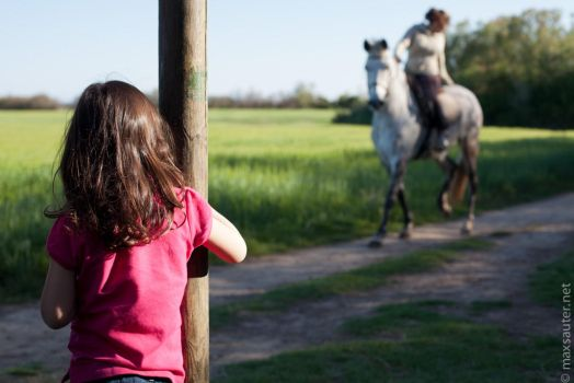 Little-girl-and-horse by sauter