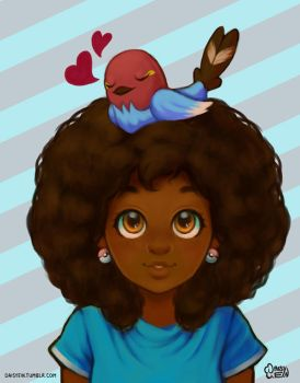 Hanging out with Fletchling by daisyein