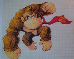 Pixel art Super smash bros: Donkey Kong by PaintPixelArt