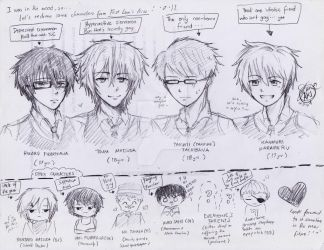 First Love's Kiss Character Sketches! by TheAwesomeAki-kun