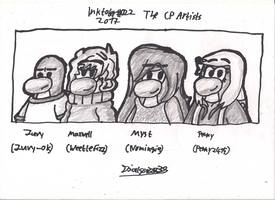 Inktober 2017 #022 - The Club Penguin Artists by Dialga22239