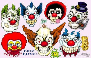 Clown 2009 Tattoo Flash by MonsterInk