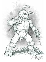 Raphael the Ninja Turtle by staino