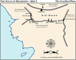 The Atlas of Beleriand - Map 5 by Airyyn