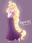 Rapunzel | Tangled | Disney Colouring Page Redraw by HopelessPeaches