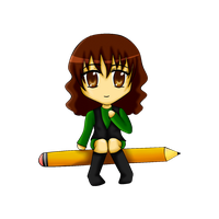 Nyaw Me in a pencil (?) XD by Tefaloid