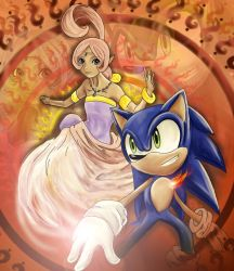 sonic and sharha by shamcy
