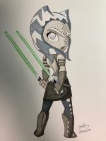 Ahsoka Tano (original for sale) by NoDiceMike