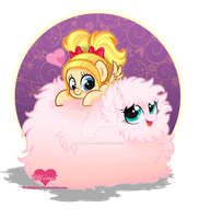 Mimi and Fluffle Puff by mimijuliane