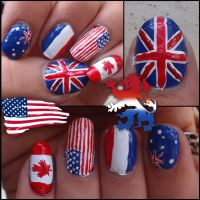 flag nails by Ninails